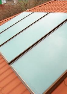 voorbeeld vlakke zonnecollectoren
